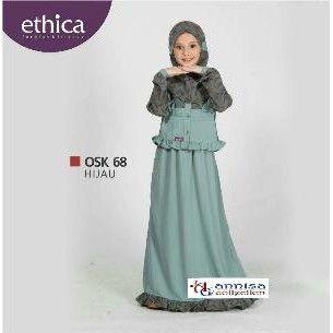Ethica Osk 68 Hijau Baju Dress Anak Gamis Super Big In 2018