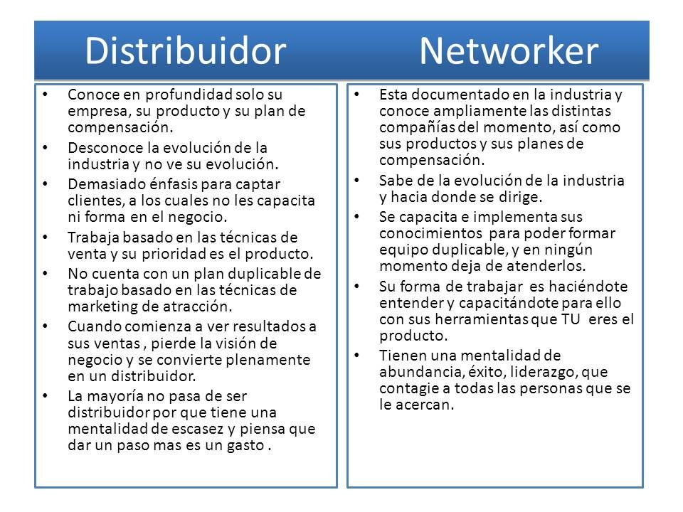Diferencia entre distribuidor y networker Networking Pinterest - auxiliary operator sample resume