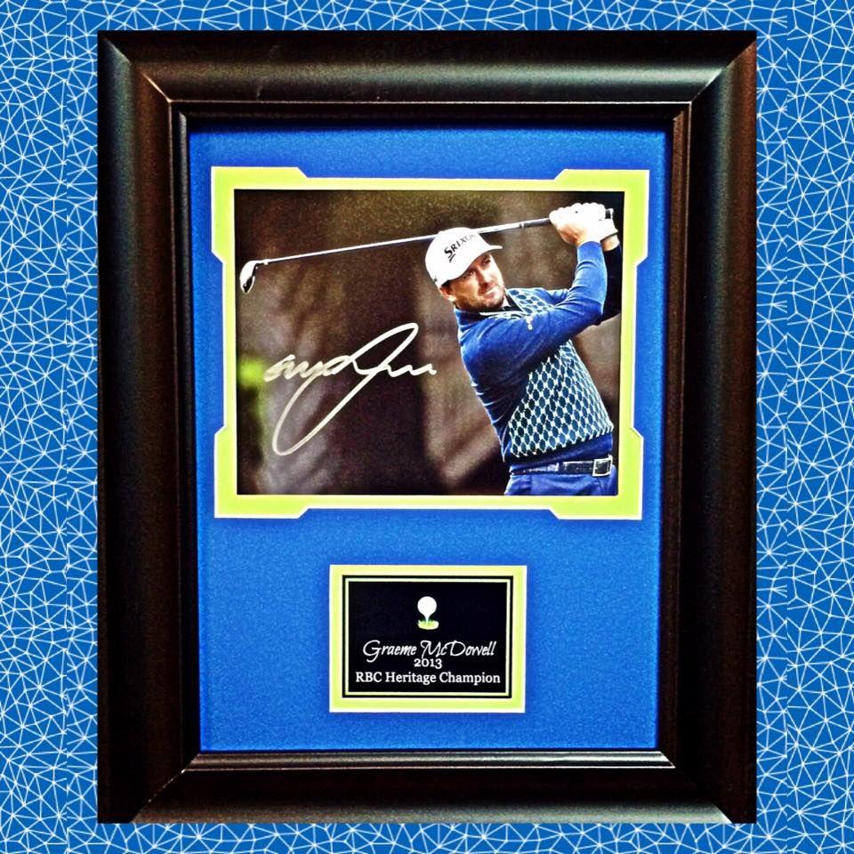 Graeme McDowell Autographed Framed Photo Sports