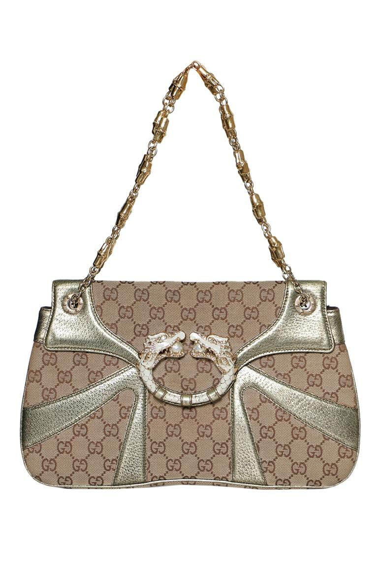 4500a075cb8 ViaAnabel - Preowned Authentic Gucci Limited Edition Monogram GG Tom Ford  Jeweled Dragon Shoulder Bag