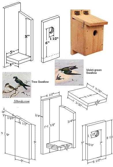 bird houses nesting boxes instructions tree swallows