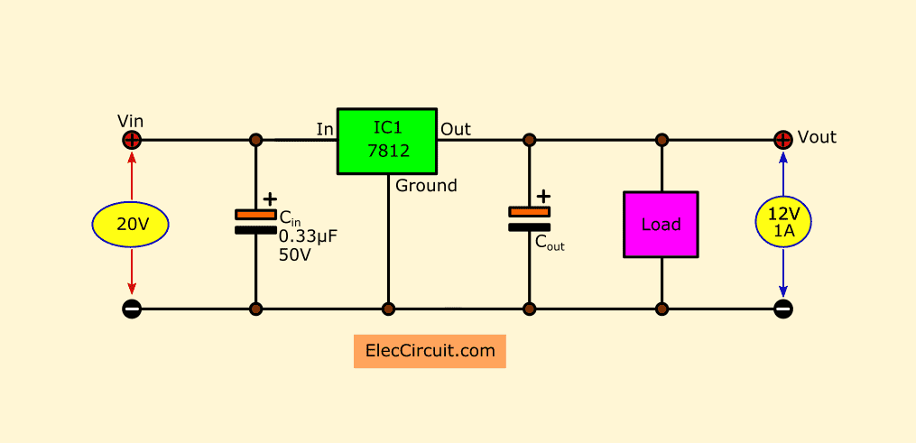 Simple Designing 12V 5A Linear Power Supply   ElecCircuit ...