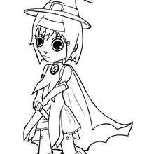 Dibujo de bruja de Halloween  Dibujos para Colorear y Pintar