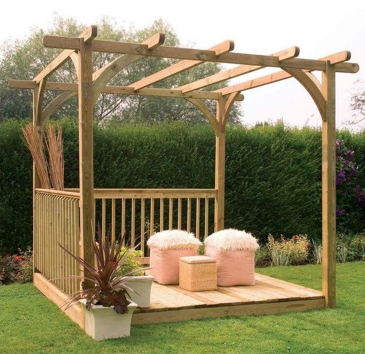 cheap fabriquer une pergola et modles inspirants with plan de gazebo en bois. Black Bedroom Furniture Sets. Home Design Ideas