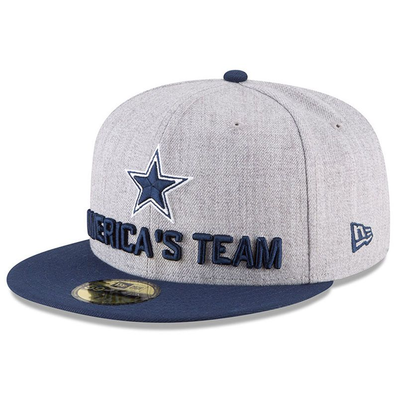 6575cf6375131f Dallas Cowboys New Era Youth 2018 NFL Draft Official On-Stage 59FIFTY  Fitted Hat – Heather Gray/Navy