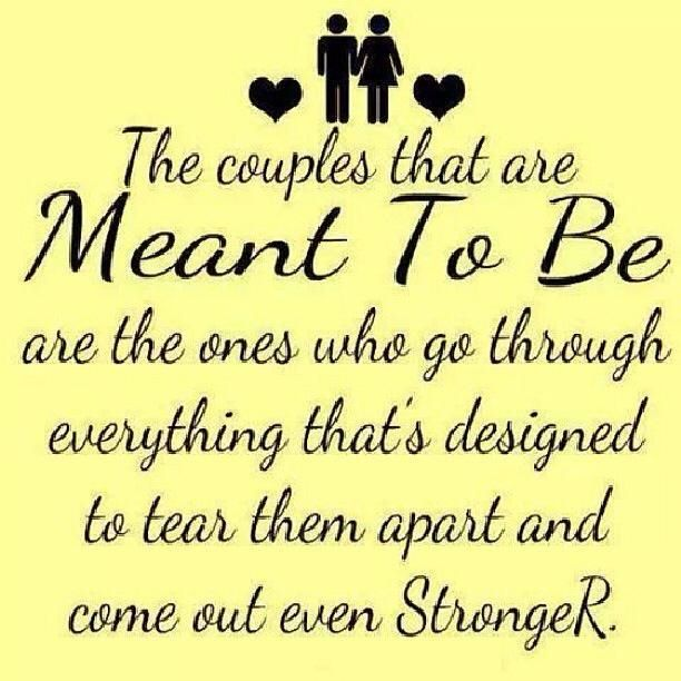 The couples that are meant to be