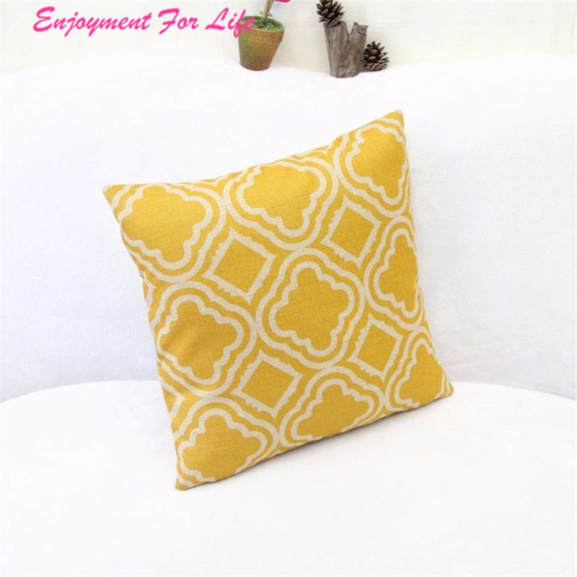 Argyle Pattern Linen Throw Pillow Case Cushion Wholesale High