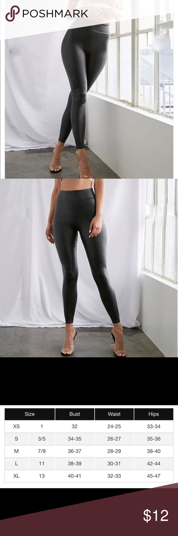 Forever 21 Black Faux Leather Leggings Nwt Faux Leather Leggings Black Faux Leather Leggings Leather Leggings