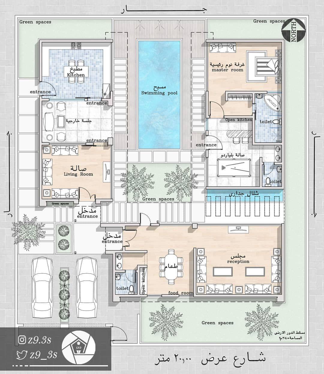 المدينة المنورة مخططات الرياض مخطط الشرقية فلل فيلا كروكي بيت مكة منزل منزلي جازان اب Floor Plan Design Home Map Design Architectural Floor Plans