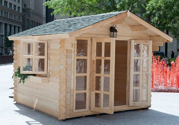 Amazing Brighton Garden Shed With Simply Wooden Shed Kits, And Clear Glass  Folding Door Front