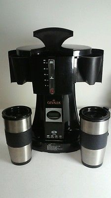 Gevalia Ws 02a Coffee Maker Travel For Two Dual Mugs Black Stainless