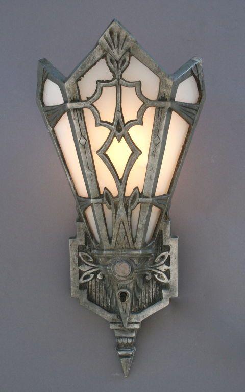Art Deco Sconces 3 Available 1stdibs Com Art Deco Lighting Art Deco Chandelier Art Deco Lamps