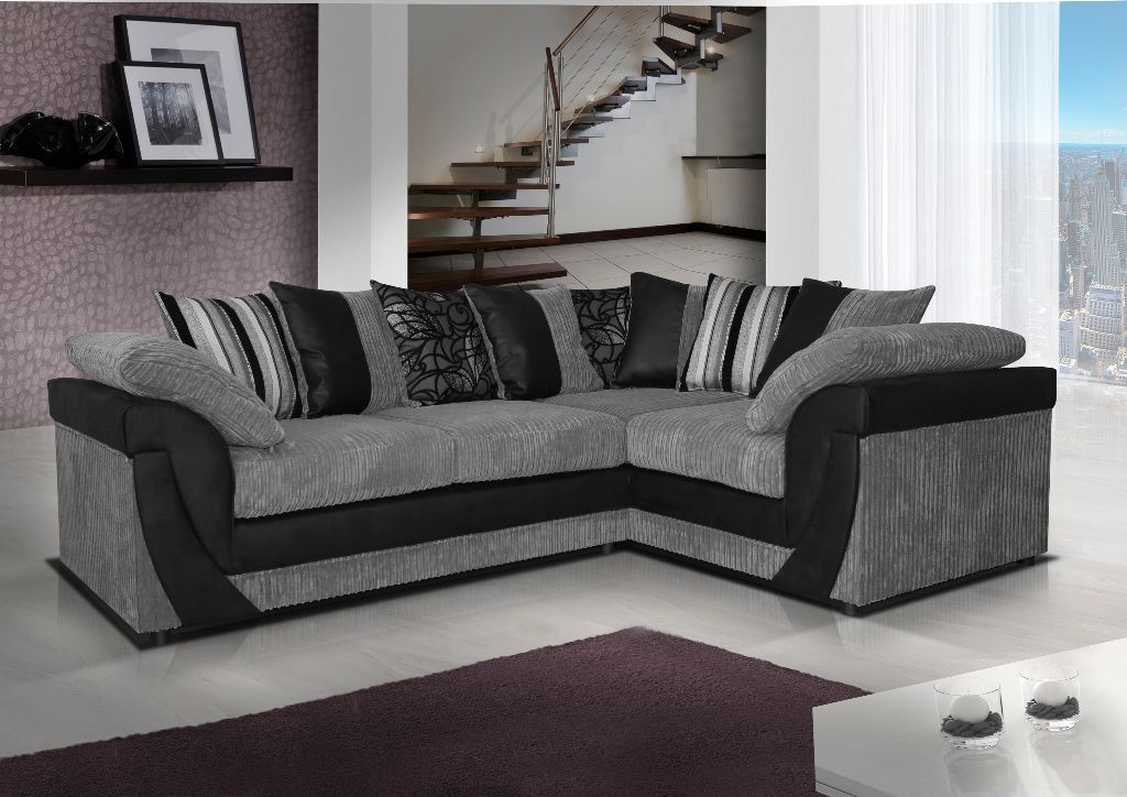 Brand New Lush Leather Fabric Corner Sofa In Black Grey Or Brown Beige Free Delivery United Kingdom Gumtree Sofa Design Grey Corner Sofa Corner Sofa Uk