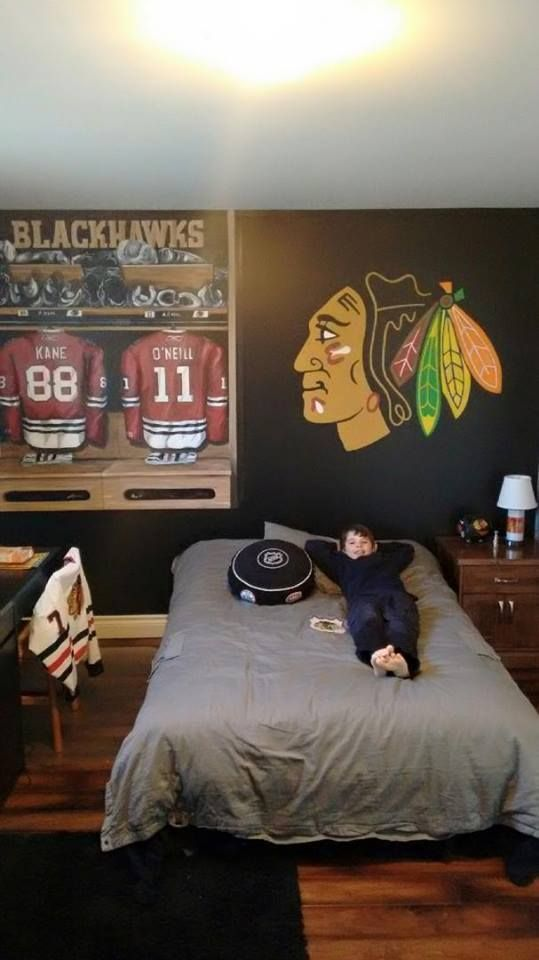 The Perfect Bedroom For A Blackhawks Fan