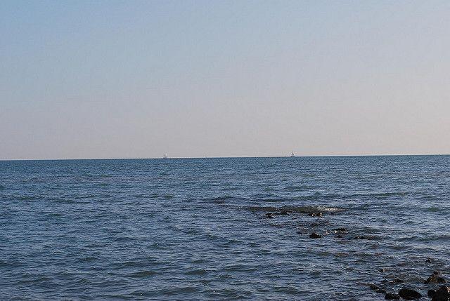 Il mare leggermente mosso