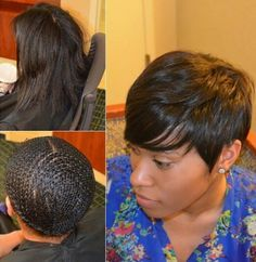 pixie sewin with lace closure  short weave hairstyles