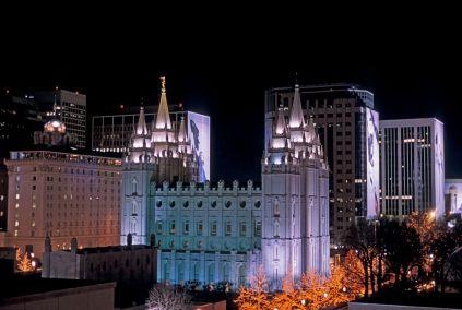 Salt Lake City, UT Dec 2012  Temple Square Lights is top event in Utah