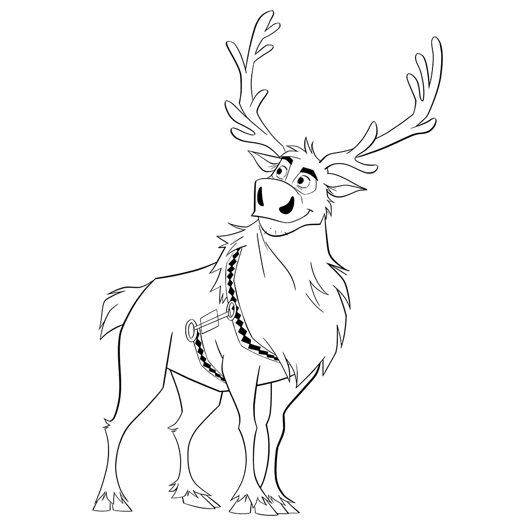 Free Printable Reindeer Coloring Pages For Kids Frozen Coloring Pages Coloring Pages Disney Coloring Sheets