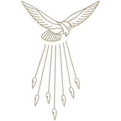 Divino Espirito Santo 30 Cm Santas Tattoo Toalhas De Batismo E