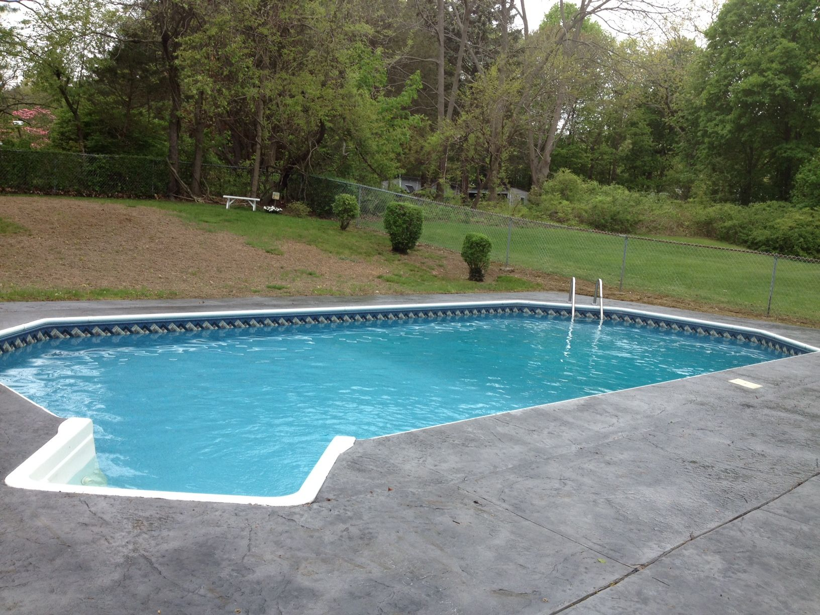 Grecian Style In Ground Pool Liner Replacement A1pools A1poolsct A1poolsandspas Linerreplacement I In Ground Pools Pool Renovation Pool Liner Replacement