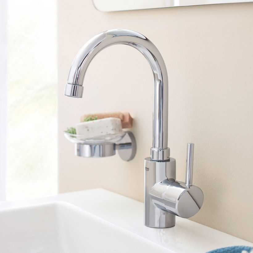 Grohe Concetto side lever basin mixer tap   Basin mixer taps, Basin ...
