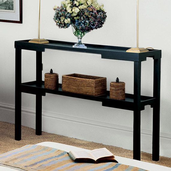 Kyoto Narrow Console Table Wood 45 Long By 11 Deep