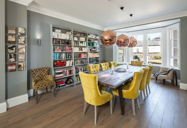 Awesome Dining Rooms For Home Room Design Planning With Library Ideas