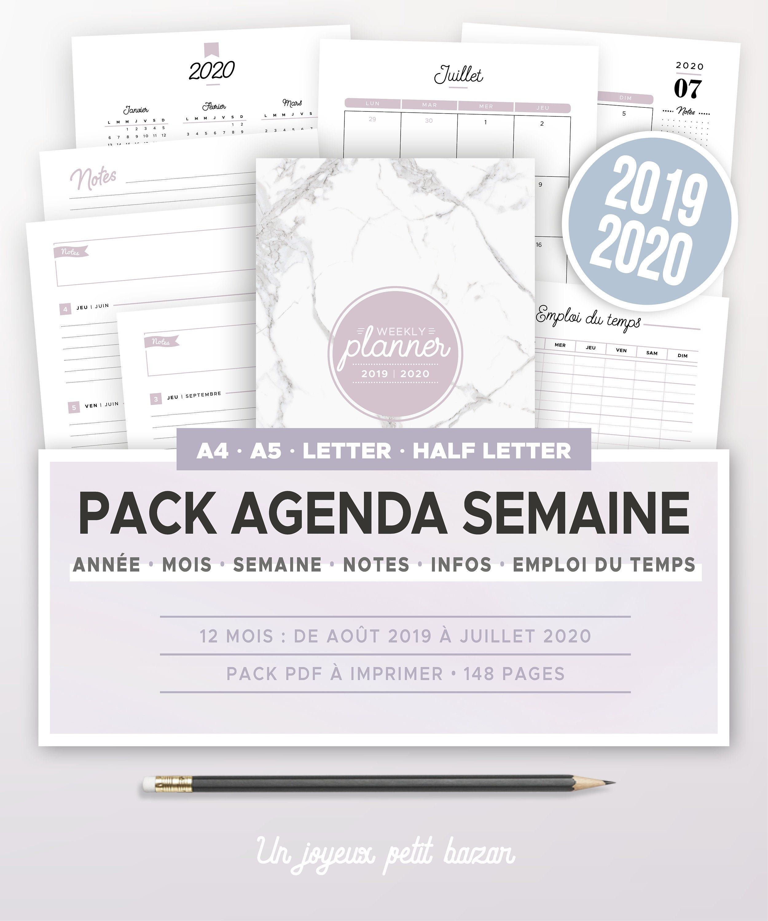 Pin on Agenda semainier