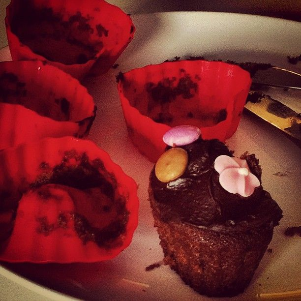 Summer (daughter of our Head of Design) came in and made some incredible chocolate cupcakes. This is all that's left.