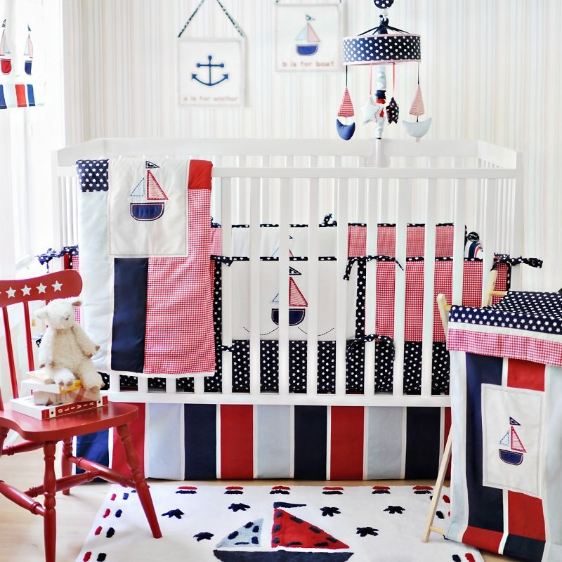 Popular Nautical Nursery Bedding Design Ideas with Brand New Baby