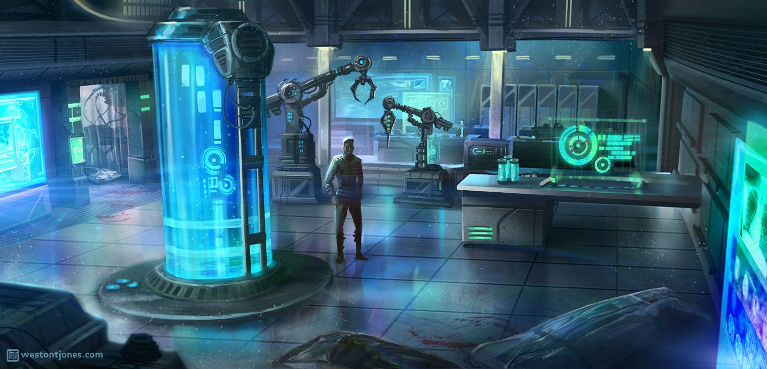 ArtStation Medical Lab Concept, Weston T Jones Sci fi