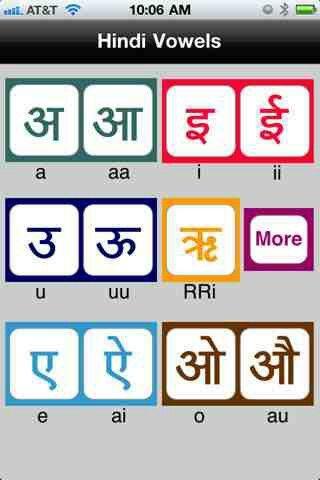 Hindi Vowels Hindi Pinterest