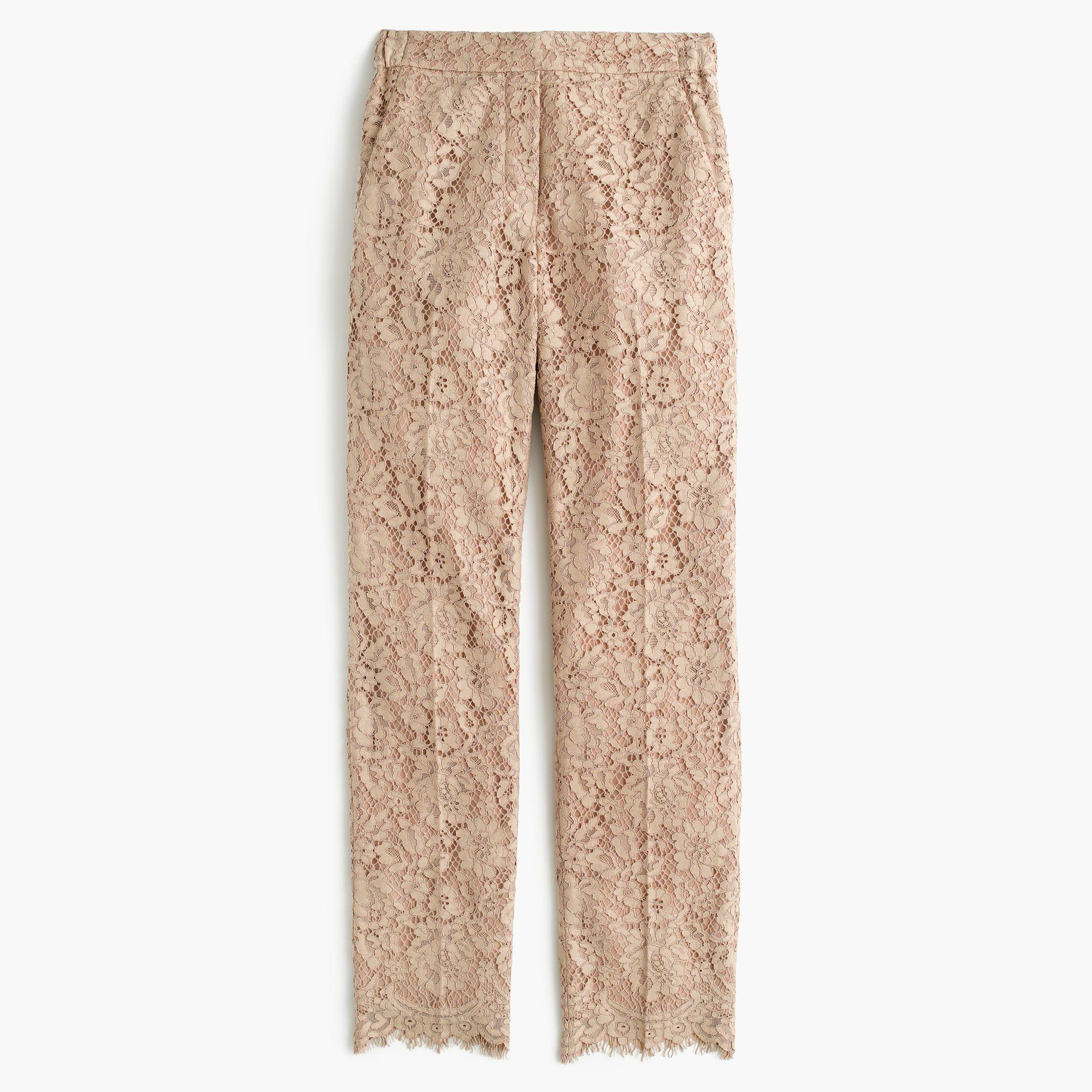 b1077c81 J.Crew - Petite lace pant   Work / Casual Outfits   Lace pants ...