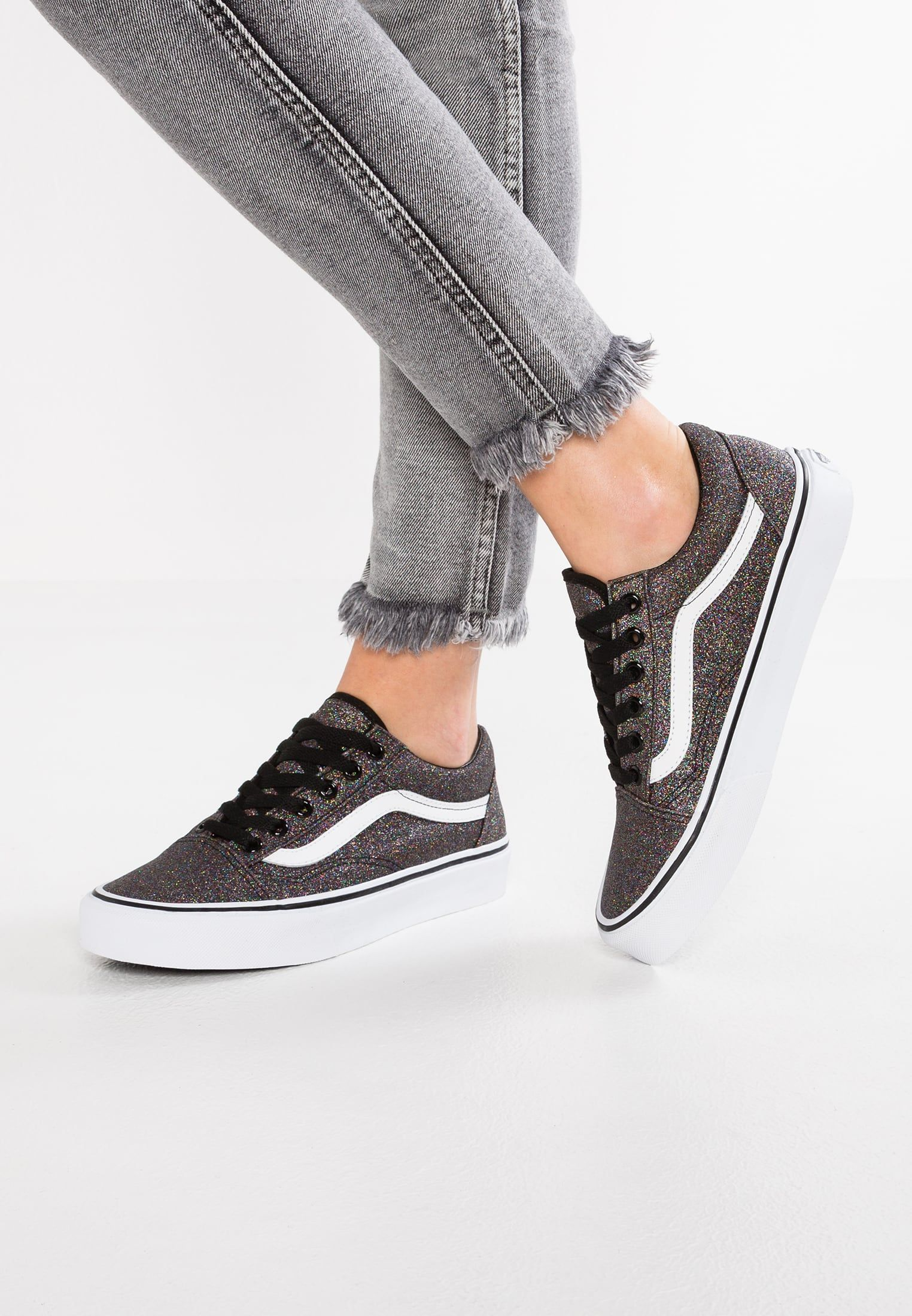 vans old skool black damen glitter