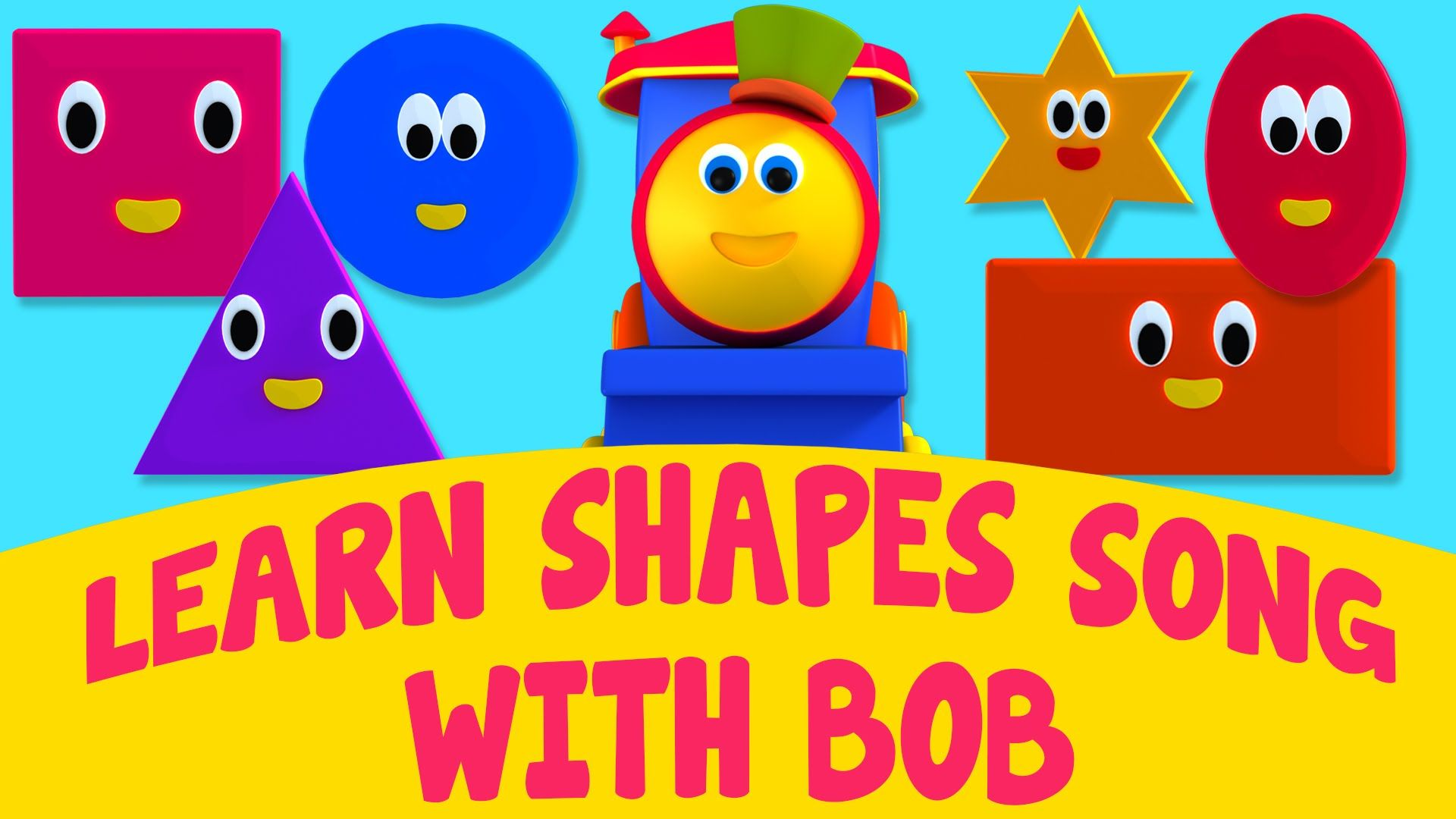 Bob, The Train - #LearnShapesSong With Bob | #ShapesSong | Adventure ...