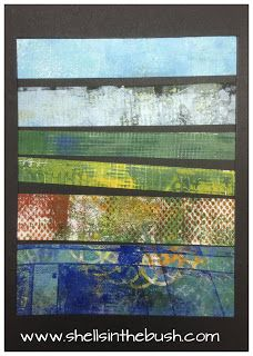 Gelli print abstract landscape by Michelle Reynolds.
