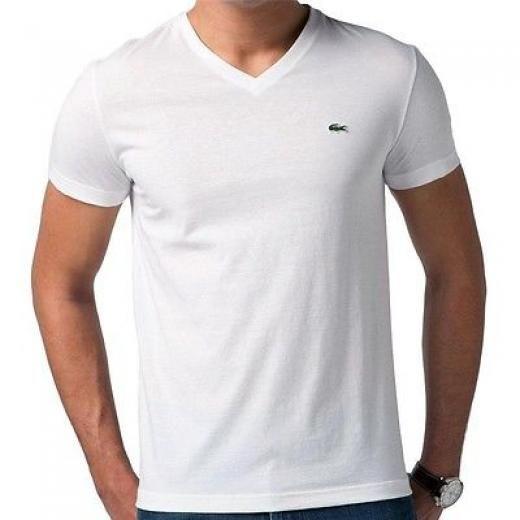 922c2a619a Lacoste New Men's Premium Pima Cotton Sport Athletic V-neck Shirt T ...