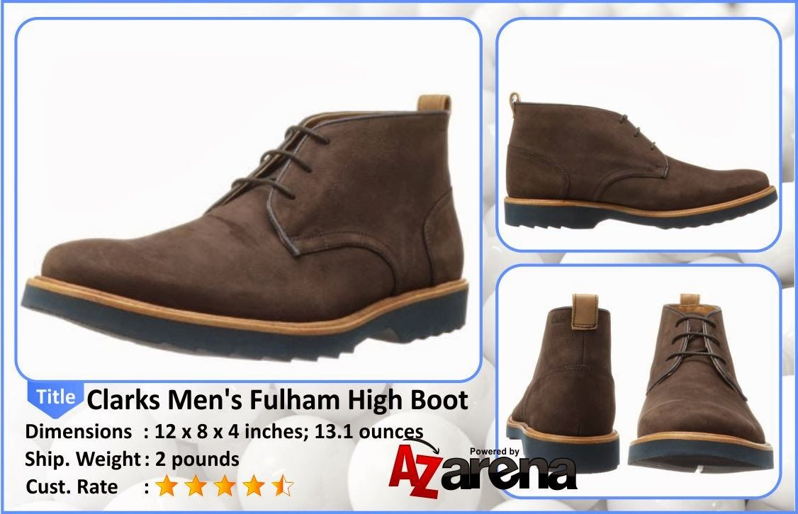 Clarks Men's Fulham High Boot | Dress pants and cords look more stylish  when paired with