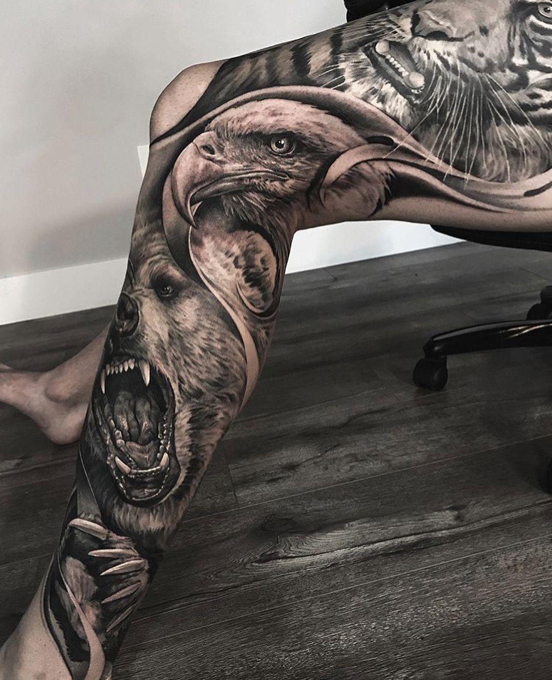 Pin by Patrick on Tattoos Leg tattoo men, Full leg tattoos
