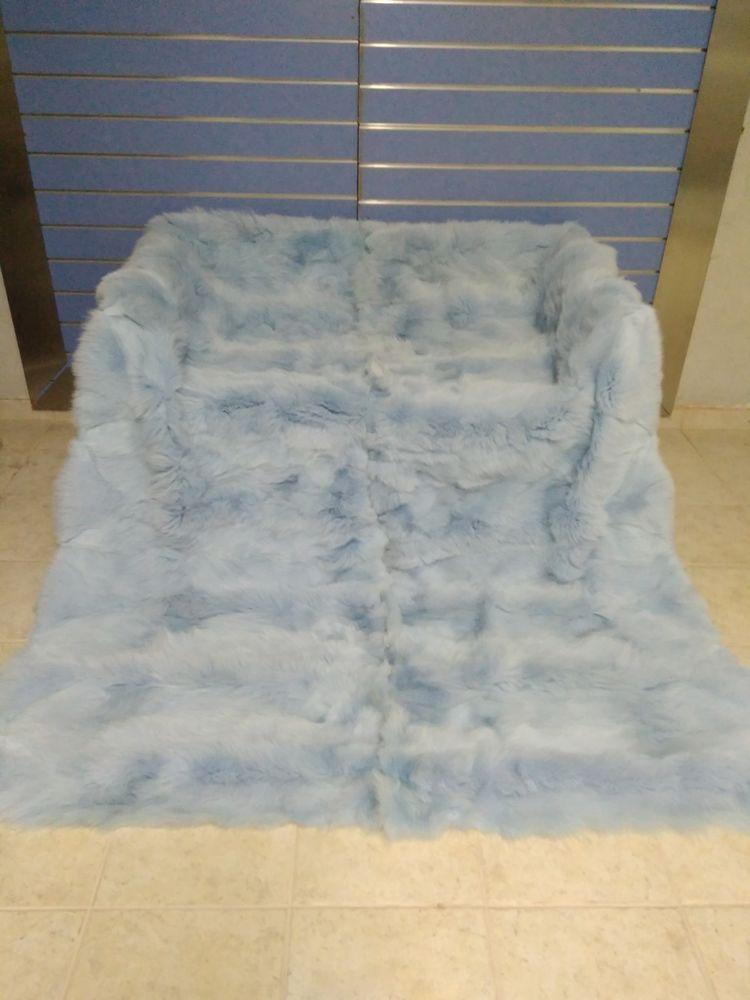 Luxus Hellblau Fuchs Fell Uberwurf Echte Fuchs Fell Decke