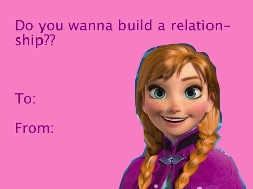 Frozen Valentine Day Card With Images Funny Valentines Cards