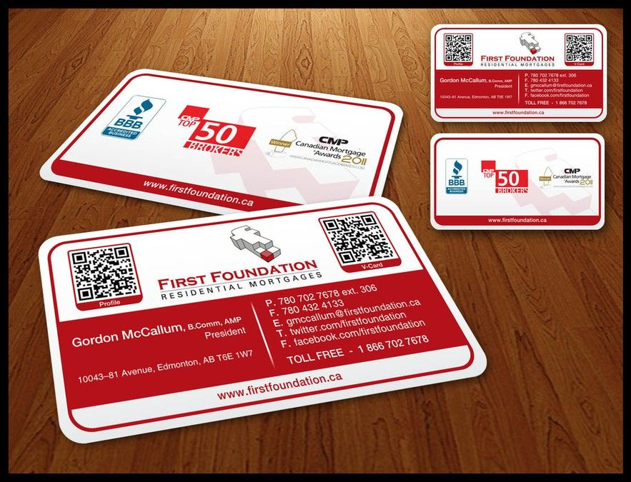 First Foundation (Mortgage Brokerage) Needs New Business Cards by ...