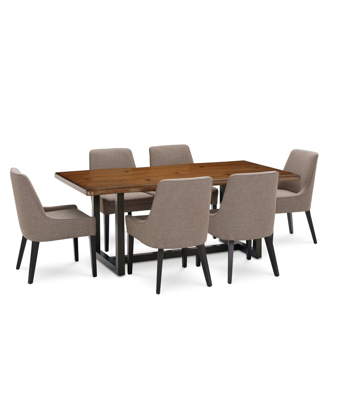 Furniture Everly Dining Furniture 7 Pc Set Table 6 Square