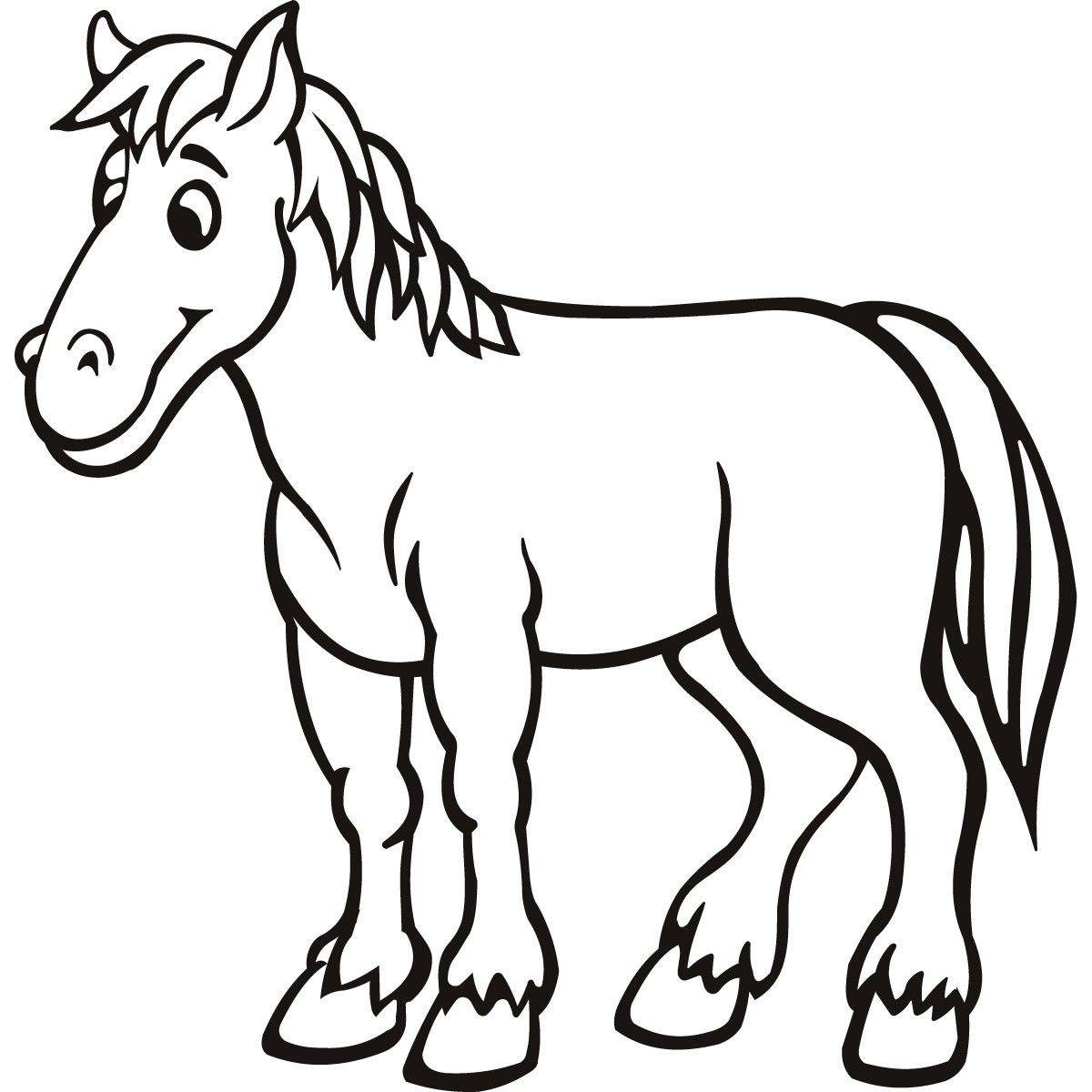 Photo Ref Horse Coloring Pages Animal Outline Horse Coloring [ 1200 x 1200 Pixel ]