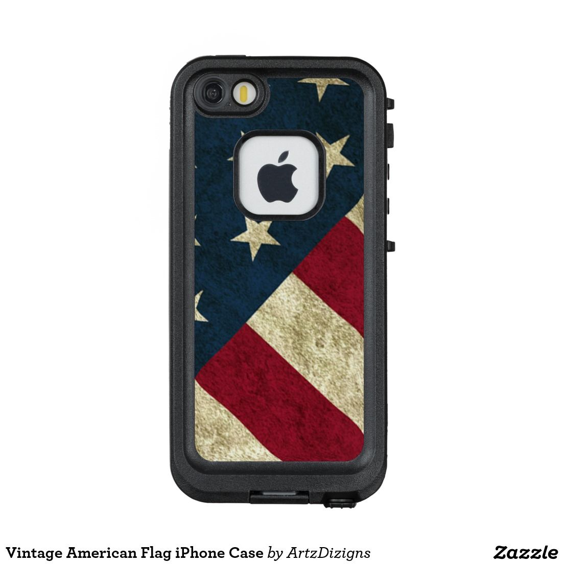Vintage American Flag iPhone Case  Lifeproof Fre iPhone 5 Case  http://www.zazzle.com/artzdizigns?rf=238365382999242687 #vintage #Americanflag #starsandstripes #iPhone5case #lifeprooffre #zazzle