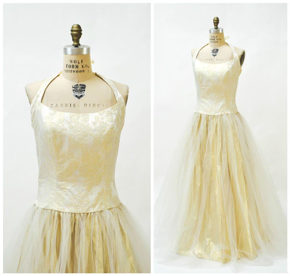 Vintage wedding dress 90s XL