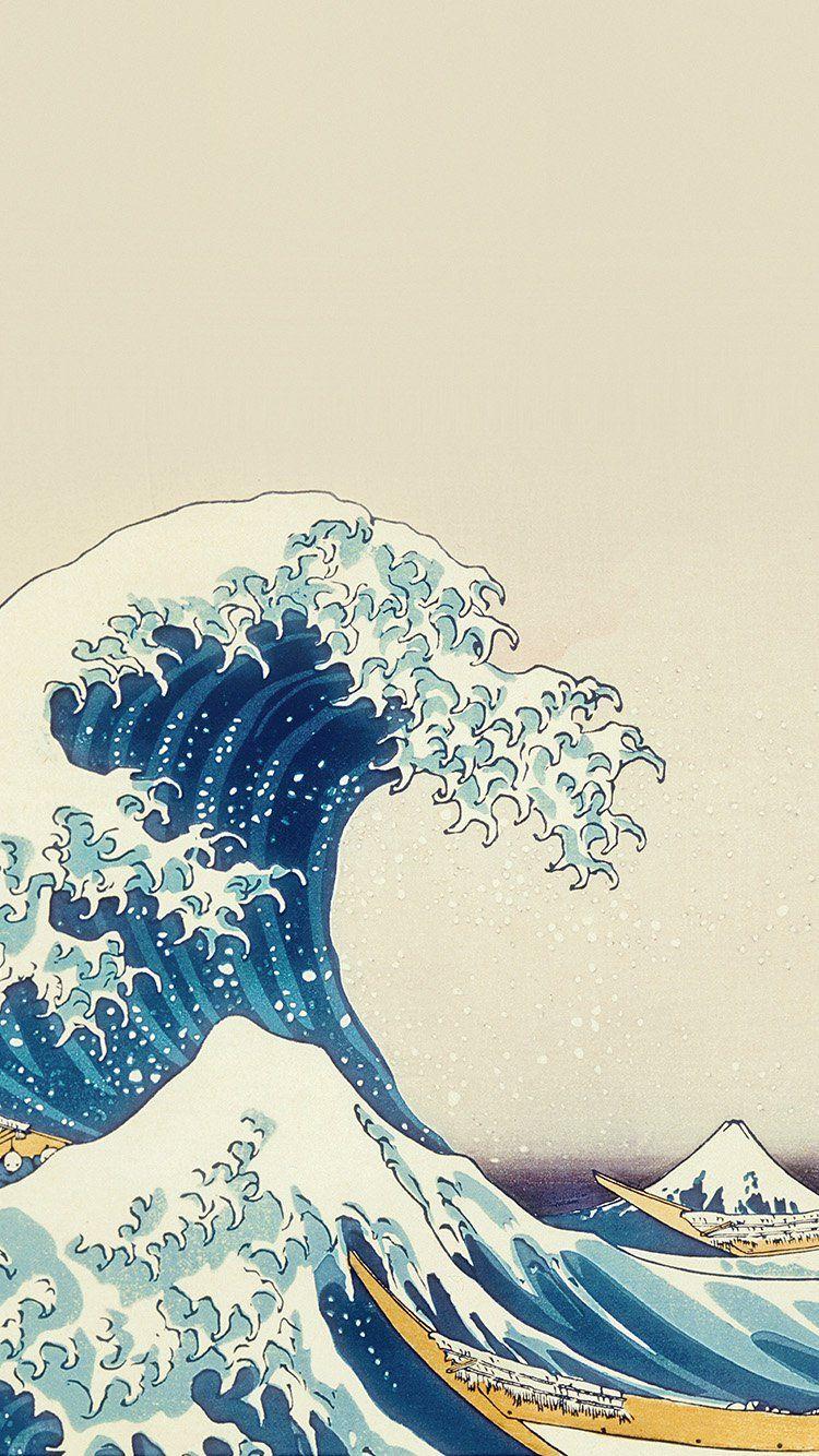 Papers co an25 wave art hokusai japanese paint illust classic 33 iphone6 wallpaper jpg 750x1 334 pixels