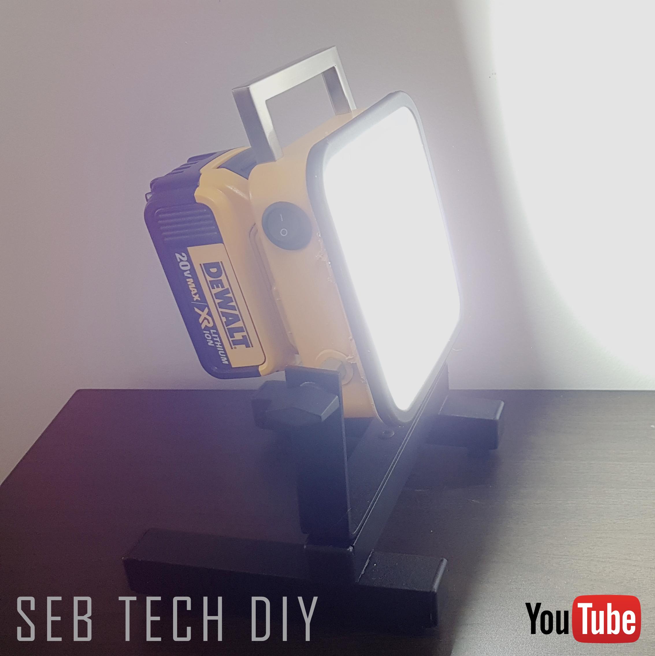 Diy 2000 Lumens Cordless Led Light Works With Dewalt 20v Battery Platform I Made This From A Non Functional Drill Impact Dewalt Led Lighting Diy Led Diy