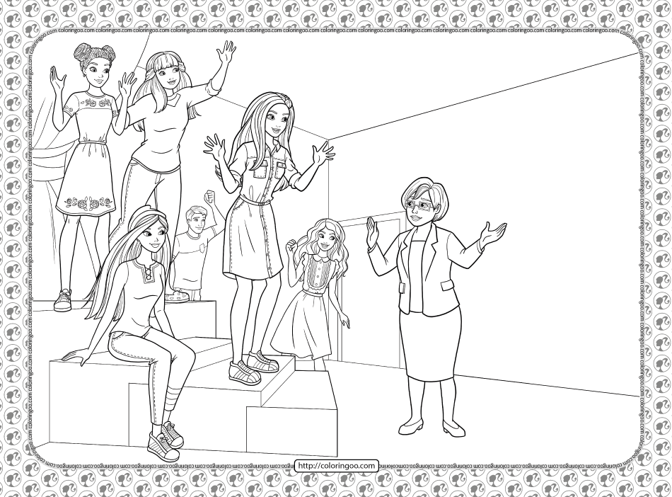 Barbie Princess Adventure Coloring Pages 05 In 2021 Princess Adventure Coloring Pages Barbie Princess