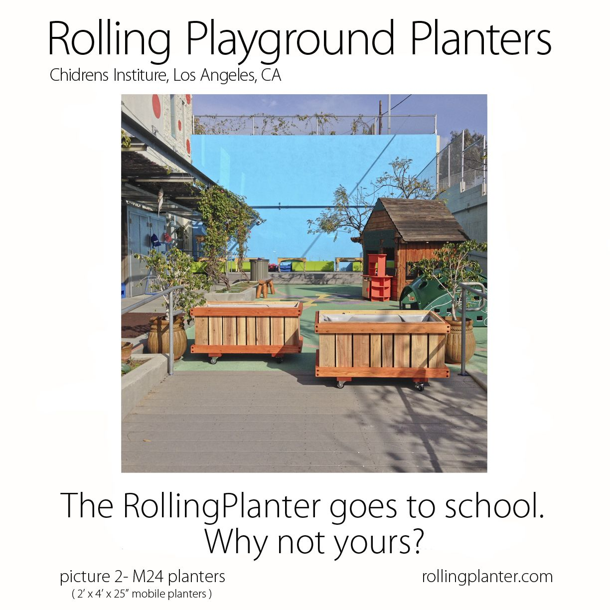 Rolling Planter For The Schools Commercial Quality Rolling Planter Grow Almost Anything In Our Planter You Desire Planters Raised Planter Beds Garden Boxes